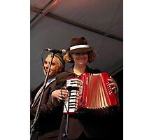 Buddy Knox Blues Band - Piano Accordionist Photographic Print