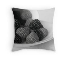 Sweetness in Black and White Throw Pillow