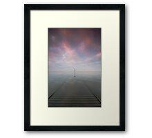 Sunken Jetty  Framed Print