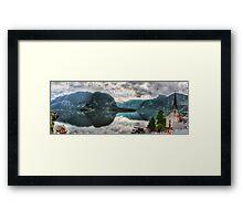 Hallstatter Lake, Austria - HDR Panorama Framed Print