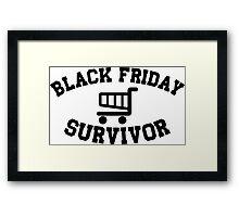Black Friday Survivor Framed Print