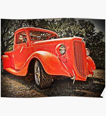 36 Orange Ford Pickup Poster