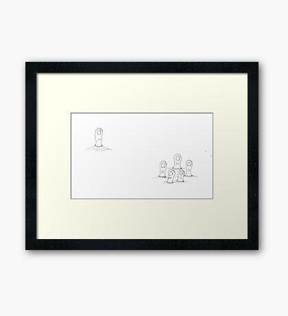 Thumbody's Missing Framed Print
