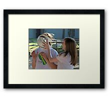 Here's Pie in Your Eye Framed Print