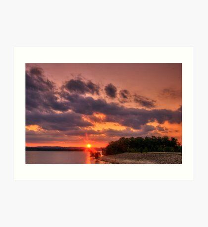 Tablerock Sunset Art Print
