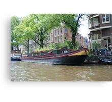 Houseboat in Amsterdam Canvas Print