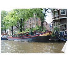 Houseboat in Amsterdam Poster