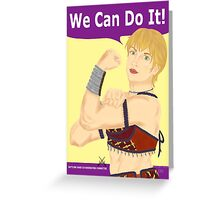 Gabrielle the Riveter Greeting Card