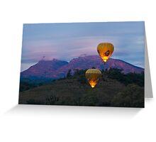 Ballooning near Wilpena Pound, Flinders Ranges South Australia Greeting Card