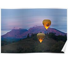 Ballooning near Wilpena Pound, Flinders Ranges South Australia Poster