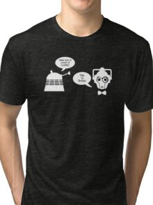 Daleks vs. Cybermen - The Inelegant Dalek Tri-blend T-Shirt