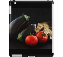 Eggplant and Tomato still life iPad Case/Skin