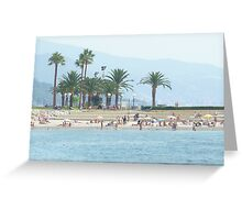 Distant palms in Menton. Greeting Card
