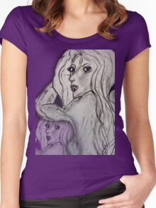 Doubled Altered State of Mind... Women's Fitted Scoop T-Shirt