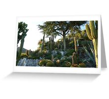 Cactus Garden in Eze Greeting Card