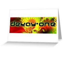 dekay-ONE red logo Greeting Card