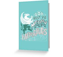 Merry Hippogriffs Greeting Card