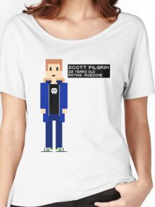 Scott Pilgrim - Rating: Awesome - 8-Bit Women's Relaxed Fit T-Shirt