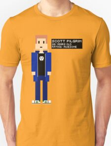 Scott Pilgrim - Rating: Awesome - 8-Bit T-Shirt