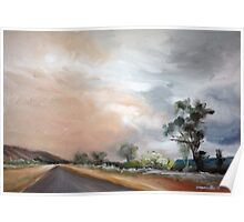 Dust Storm from Honeymoon Gap, Ilparpa Rd, Alice Springs Poster