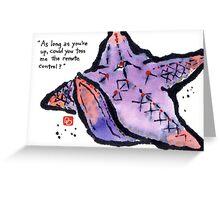 Starfish Couch Potato Greeting Card