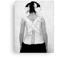 Mysterious Vintage Woman in Corset Canvas Print