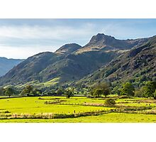 The Langdale Pikes Lake District National Park Photographic Print