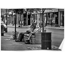 Public couch? Poster
