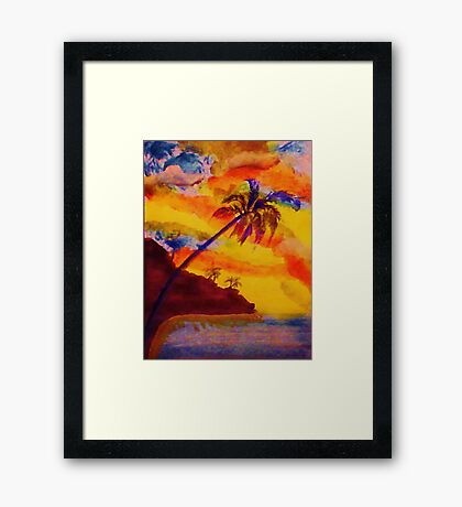 Natural Fireworks, watercolor Framed Print