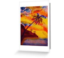 Natural Fireworks, watercolor Greeting Card