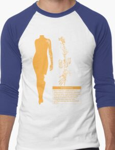Bionic Arm Warning Shirt Men's Baseball ¾ T-Shirt