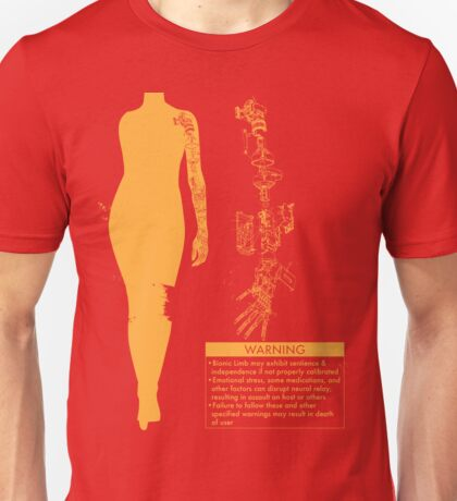 Bionic Arm Warning Shirt Unisex T-Shirt