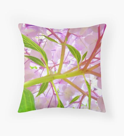 Hydrangea Flower Floral art prints Baslee Troutman Throw Pillow