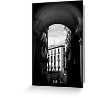 Arches of Plaza Mayor Greeting Card