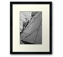 Steel Hull Framed Print