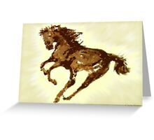 Running Wild Horse  Greeting Card