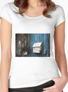 Wooden Mailbox Women's Fitted Scoop T-Shirt