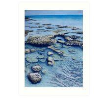 Rock Pools Art Print