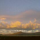 the Cascades' east face, from Davis Lake... by Allan  Erickson