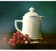 Coffee and Grapes Photographic Print