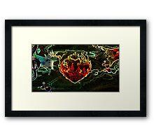 Heavy Metal Heart Framed Print