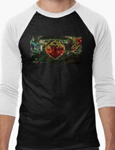 Heavy Metal Heart Men's Baseball ¾ T-Shirt