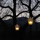 """Two Street Lamps at Twilight"" by dfrahm"