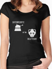 Daleks vs Cybermen - Exterminate or be Deleted Women's Fitted Scoop T-Shirt
