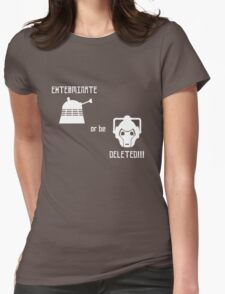Daleks vs Cybermen - Exterminate or be Deleted Womens Fitted T-Shirt