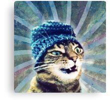 Kitty Glitter Canvas Print