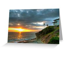 Laguna Beach Sunset Greeting Card