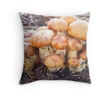 Fungi Family  Throw Pillow
