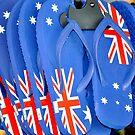 Aussie Thongs by Dean Bailey
