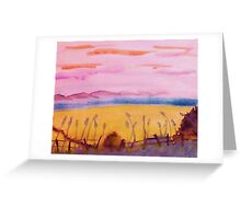 Peaceful place, watercolor Greeting Card